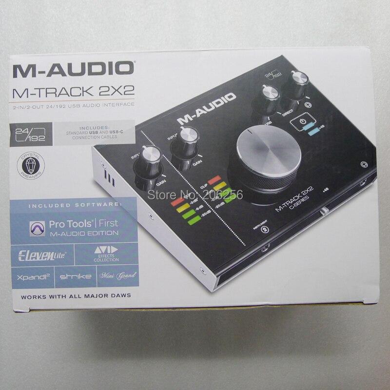 M-AUDIO M-Track 2x2 Professional Sound Card USB Audio Interface External  Computer arranger Sound Card 24bit/192kHz USB2 0 Type-C