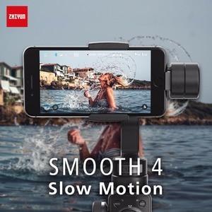 Image 3 - ZHIYUN Smooth 4 , Oficial Smooth 4, Gimbals de teléfono de 3 ejes, estabilizadores de mano para iPhone/Samsung/Gopro Hero/Xiaomi/Yi 4k, Cámara de Acción