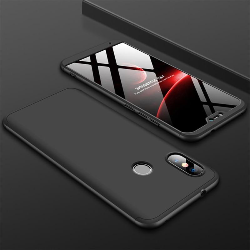 HTB143iSXE rK1Rjy0Fcq6zEvVXa8 3-in-1 Case 360 for Xiaomi Mi A2 A3 lite Mi A2 A1 Phone Case Hard for Xiaomi Mi A1 A2 A3 Cover Tempered Glass Case Fully Cover