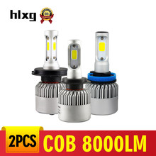 Hlxg H4 Car headlight Mini Lamp led h11 6000k 8000LM 12V LED Lamp 36W H7 HB4 HB3 9005 9006 LED Headlight Bulbs Car Light Lamp(China)