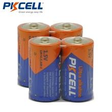 4pcs/lot PKCELL C LR14 Battery AM2 CMN1400 E93 Super Alkaline Batteries 1.5v For Smoke Detector LED Lights Shaver Wireless