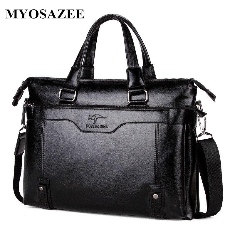 MYOSAZEE แบรนด์แฟชั่นผู้ชายกระเป๋าเอกสารกระเป๋าสะพายชาย PU หนังแล็ปท็อปกระเป๋า Crossbody กระเป๋า Messenger ชาย-ใน กระเป๋าเอกสาร จาก สัมภาระและกระเป๋า บน AliExpress - 11.11_สิบเอ็ด สิบเอ็ดวันคนโสด 3
