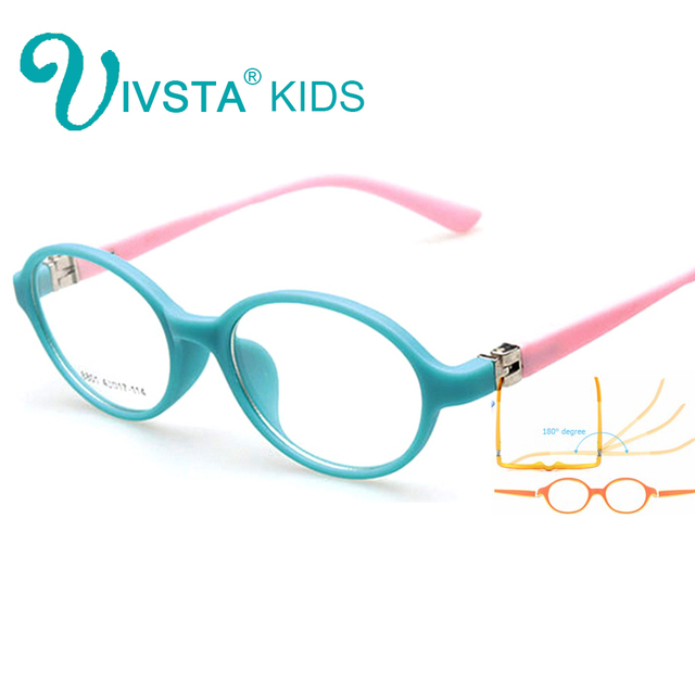 26a6061d2d IVSTA 8801 Kids frame eyeglass Glasses kids frame boy Flexible Hinge Roun Children  eyewear girls myopia prescription lenses