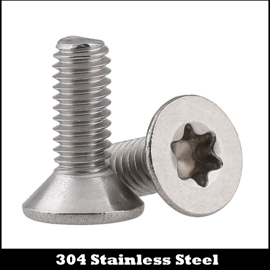 M2*4 M2x4 M2*5 M2x5 M2*6 M2x6 M2*8 M2x8 304 Stainless Steel Torx Six Lobe Countersunk Flat CSK Head Machine Security Screw купить