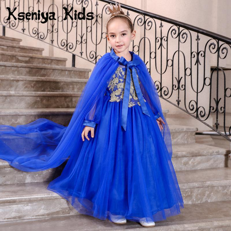 Kseniya Kids 2018 Spring Summer New Children's Clothing Lace Princess Mesh Lace Sleeveless Girls Dresses For Party And Wedding kseniya kids 2018 spring summer new children s clothing lace princess mesh lace sleeveless girls dresses for party and wedding