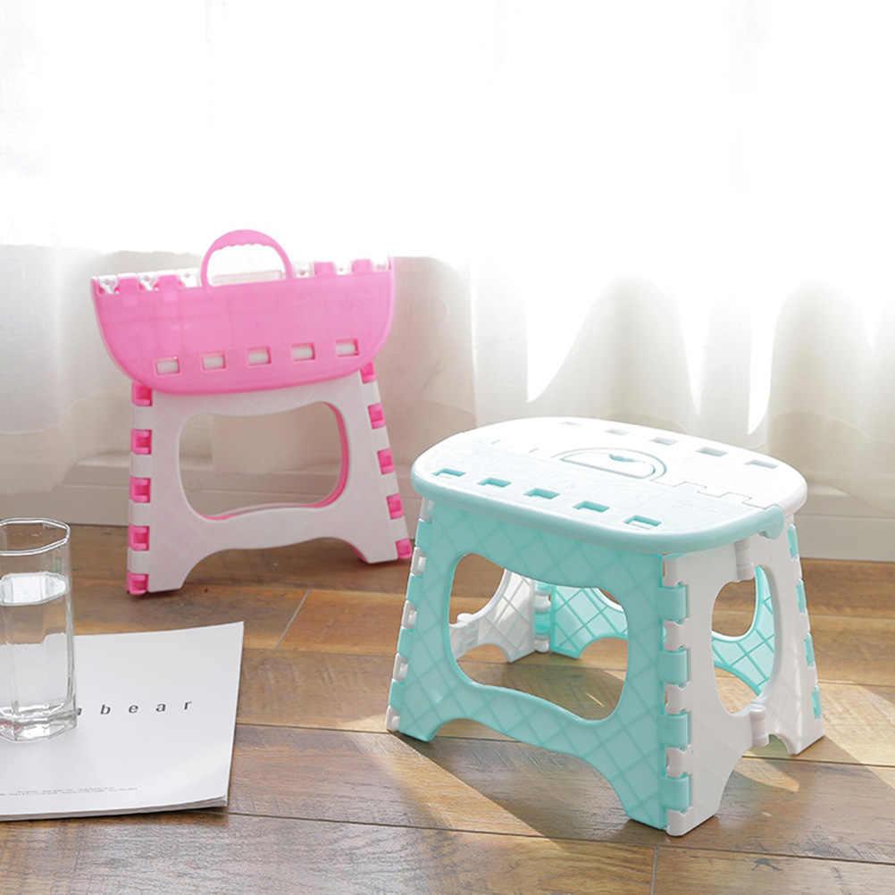 Пластик складывающийся табурет переносной стул для детей дома Ванная комната сад Кухня гостиная