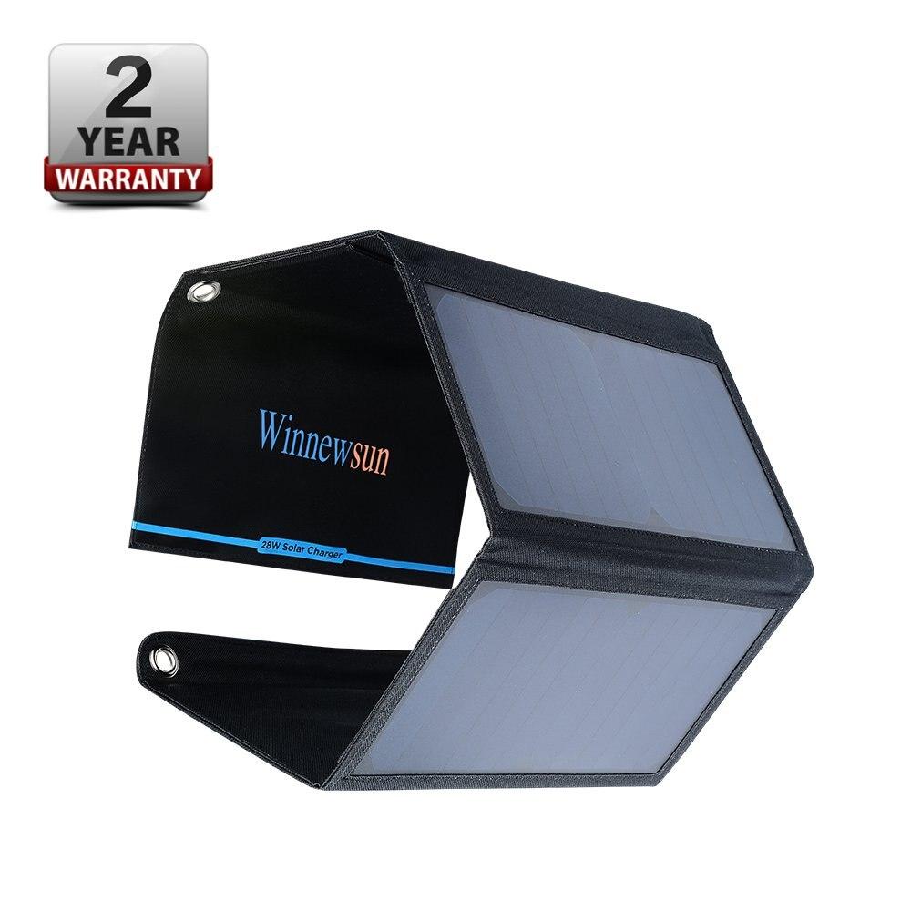 Winnewsun 21 W panneau solaire Polycristallin Chargeur Sûr panneau solaire Avec 2 Sortie De Port 5 V Pour téléphone portable Tablet Nouvelle Tech