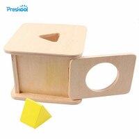몬테소리 아이 장난감 아기 나무 삼각형 프리즘 일치하는 상자 학습 교육 유치원 교육 Brinquedos Juguets