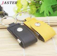 JASTER New High quality U Disk Leather USB Flash Drive Pendrive 8gb 16gb 32gb Memory stick Pen Drive pendriver Free shipping