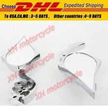motorcycle partsCHROME Custom Skull Blade Mirror fit for   CBR CBR600