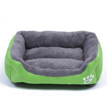 Pet Dog Bed Puppy Cat Gray House Nest Mat Pad Cozy Autumn Winter Soft Warm Fleece Kennel Mats for Small