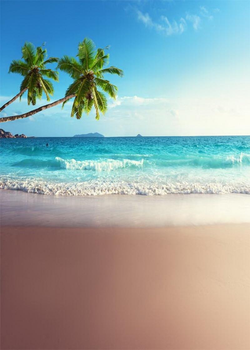10ft Vinyl Cloth Sea Beach Blue Sky Photography Backdrops