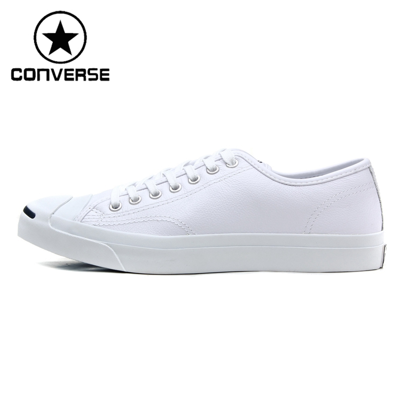 Original New Arrival 2018 Converse classic Unisex Leather skateboarding shoes Low top sneakser 247 classic leather