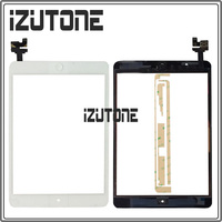White Digitizer Touch Screen Sensor Panel With IC Connector HOME FLEX Assembly Sticker For IPad Mini
