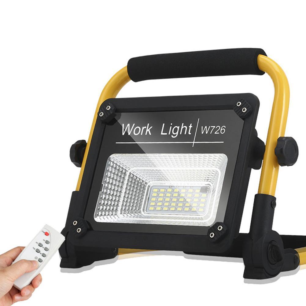 Lumière portative de travail de lumière d'inondation de l'intense luminosité 50W USB chargeant l'éclairage extérieur mené par télécommande de lampe de lumière de Camping