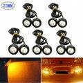 10X3 K Âmbar Amarelo 23mm 12 V 24 V Motor Do Carro 9 W LEVOU Nevoeiro Olho de Águia DRL Luzes de condução