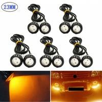 10X 3K Amber Yellow 23mm 12V Motor Car 9W LED Eagle Eye Fog Driving DRL Lights