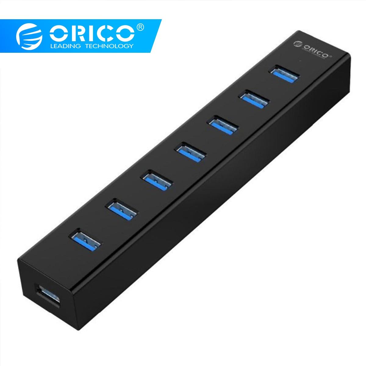ORICO H7013-U3 Super Speed ABS USB 3.0 7 Ports HUB-Black/Red/White/Yellow