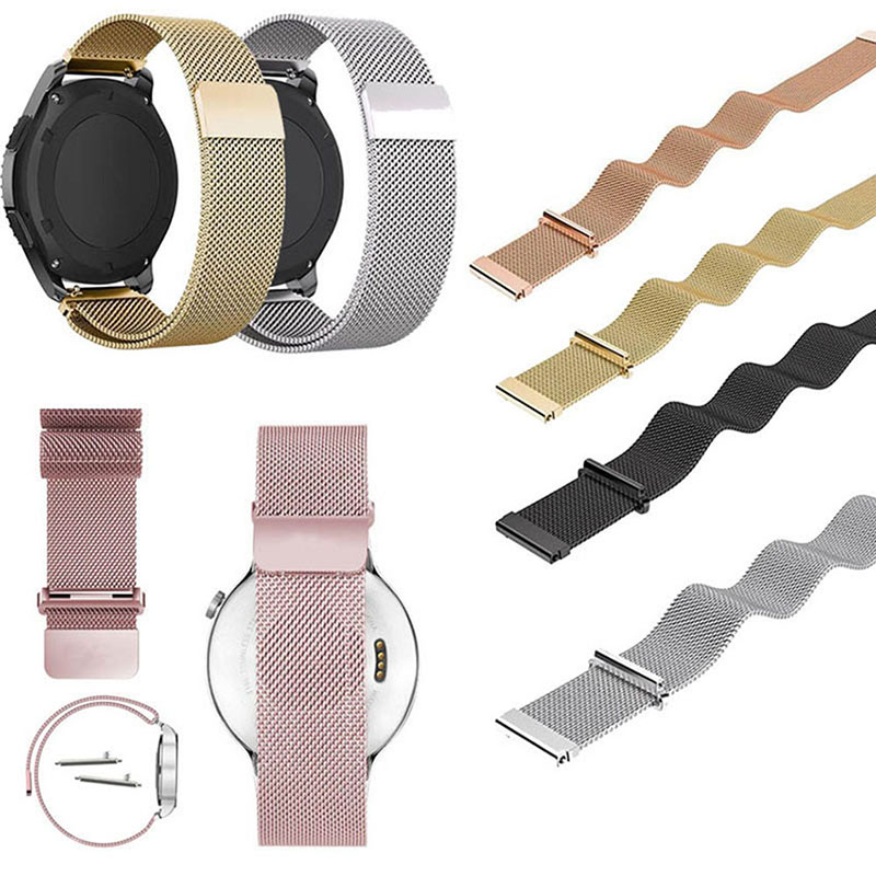 COCOTINA Stainless Steel Watchband Wrist Bracelet Quick Release Pins With Magnetic Buckle For Samsung gear s3 LSB01166 black silver stainless steel buckle wrist watch straps for samsung gear s2 classic watchband with remover tool free