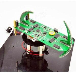Image 3 - DIY dwuosiowy sferyczny obrotowy zestaw LED kreatywny POV lutowania zestaw treningowy