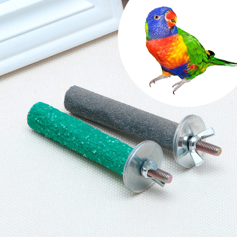 Home & Garden Colorful Pet Bird Chew Paw Grinding Toys Parrot Harness Cage Budgie Clean Tool Random Color Drop Ship