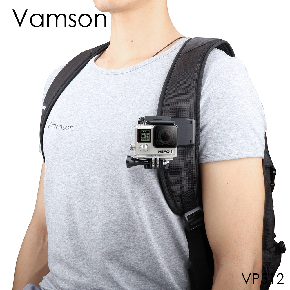 Vamson for Go Pro Accessories 360-Degree Rotation Clip For GoPro Hero 6 5 4 3+ 3 2 1 for Xiaomi yi for SJCAM for SJ4000 VP512 h05 360 degree rotation suction cup holder w c46 mini back clip for iphone 4 4s 5 black