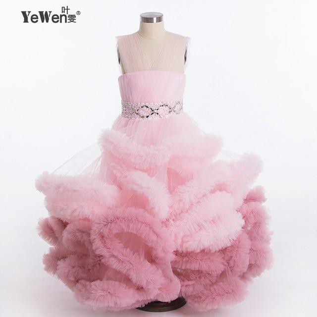 Nuevo diseño de la Nube de Gradiente pequeños vestidos de niña para ...