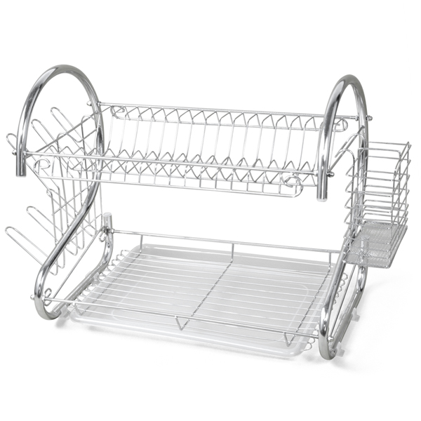 black Bathroom Shelves Cheap Sale 2pcs Black Iron Storage Rack Display Stand Dish Rack Plate Bowl Holder Kitchen Table Tray Rack Drip Rack Home Decoration