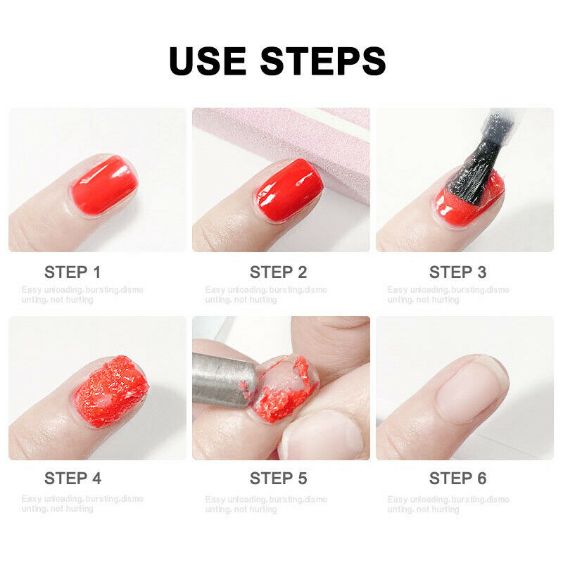 Gel Nail Remove Burst Magic Nail UV Gel Polish Quick Remover 8ml 15ml Nail Art Primer Lacquer Clean in Nail Polish Remover from Beauty Health