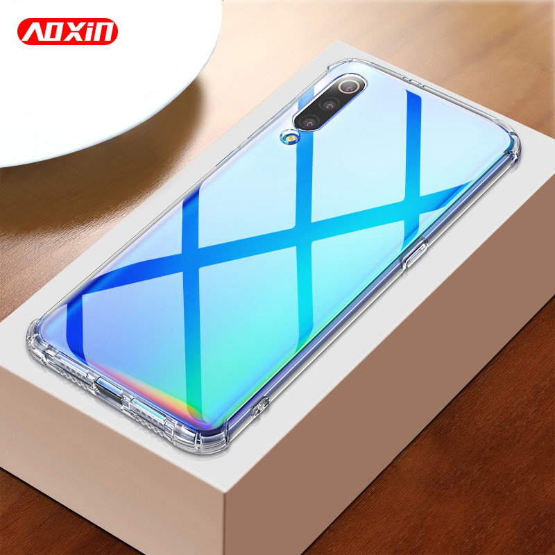 AOXIN 3D Clear Phone Case For Xiaomi Mi 8 9 Mi8 Lite SE Case Back Cover For Xiaomi Mi 8 Mi8 Mi9 Lite Soft TPU Silicone Shell Bag