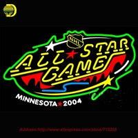2017 Hot Neon Sign Minnesota Hoang Dã 2004 All Star Game Glass Ống Thủ Công Giải Trí Phòng Mang Tính Biểu Tượng Dấu Hiệu Neon Window Lights 31x20