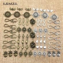 LJJAGLL металлического сплава 10/20 шт./лот Винтаж микс ювелирные соединители для Diy браслет бижутерия ручной работы талисманы изготовления ювелирных изделий ALJQ018