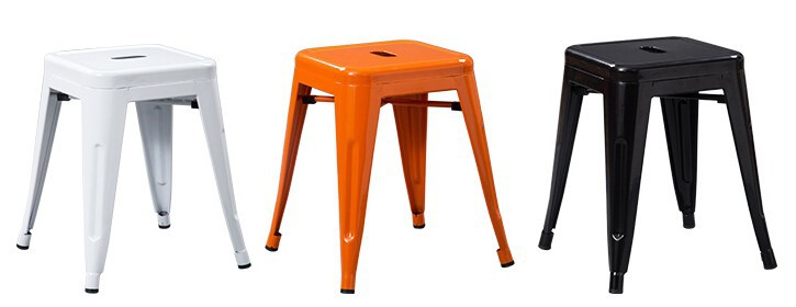 1 Piece 18 Inch Height Metal Bar Stool Iron Sheet Dining Chair In