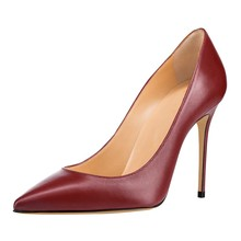 Dropshipping Big Size New Thin High Heels Pumps Elegant Pointed Toe Handmade Office Fashion Shoes For Women D018A