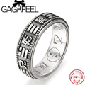 Gagafeel 100% Real Pure 925 Sterling Silver Ring Gossip Bagua Rotatable Men Ring Thai Silver Fine Jewelry Rings for Men R024
