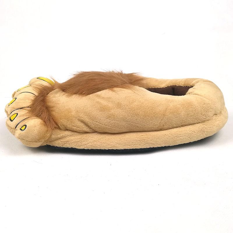 FAYUEKEY Furry Adventure Winter Women Men Vintage Home Cartoon Hobbit Toes Big Feet Slippers Halloween Pantufa Warm Floor Shoes 2