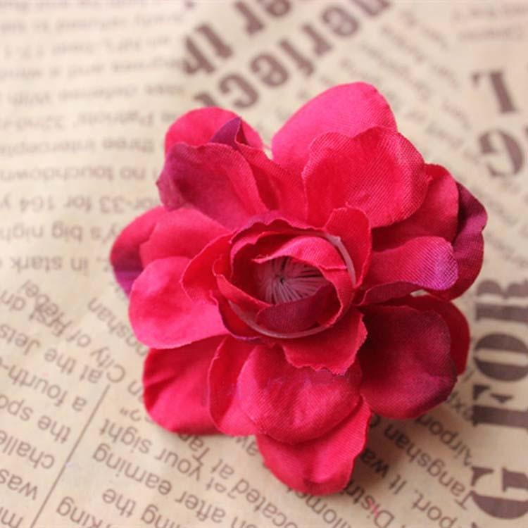 cm de alta calidad grande de tela real touch seda cabezas de las flores de