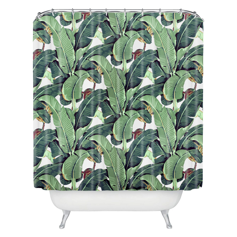 Aliexpress.com : Buy Banana Leaf Shower Curtain Custom Cut Off The Curtain  Bathroom Bathroom Water Curtain Polyester Fabrics Bath Curtain Mat From  Reliable ...