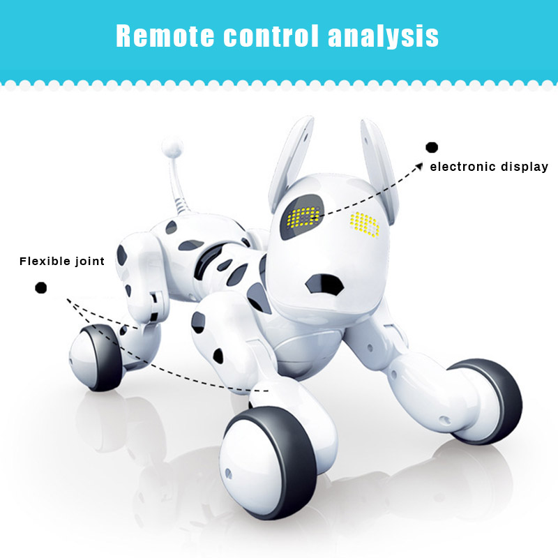 RC Robot Intelligent Chien Électrique Sans Fil télécommande Jouet Chanter Danse Marche pour Enfants YJS livraison directe