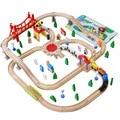 На Складе 100 Шт./лот Деревянный поезд Переключатель Трек набор с Круговой Turntable Образовательные Toys Детские Игрушки Совместим с Томасом
