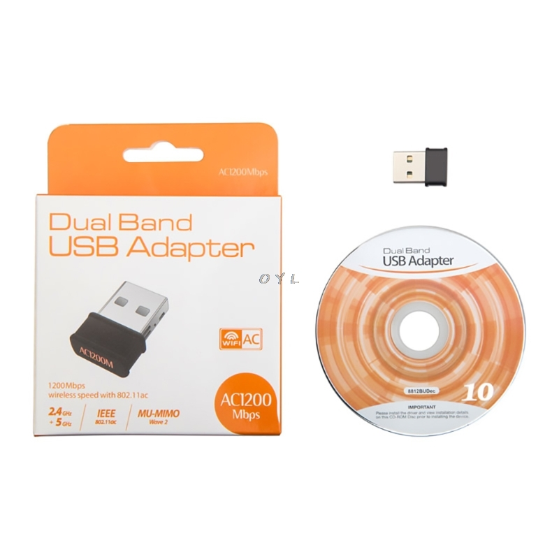 802.11ac 1200Mbps Dual Band 2.4G 5G Wireless Nano USB Wifi Adapter For Desktop