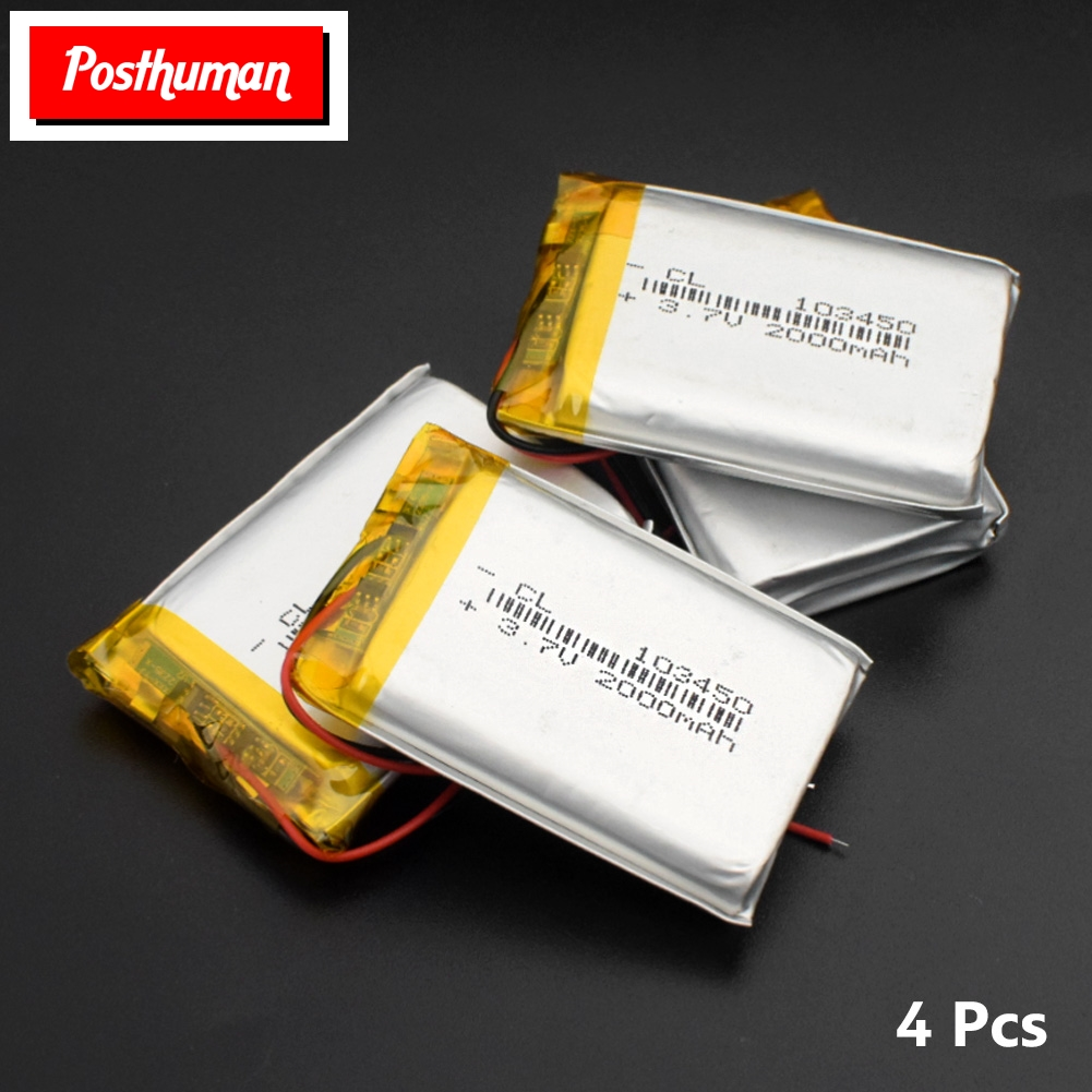 103450 <font><b>3.7V</b></font> <font><b>2000mAh</b></font> Lipo <font><b>Battery</b></font> Replacement li-ion Lipo cells Lithium Li-Po Polymer Rechargeable <font><b>Battery</b></font> For Bluetooth speaker image