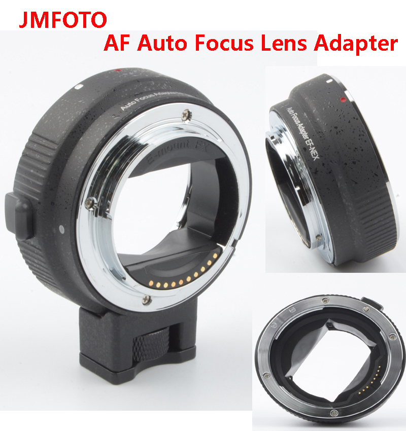 wholesale price!JMFOTO Electronic AF Auto Focus Lens Adapter for Canon EOS EF EF-S body to Sony E NEX A7 A7R lens Full Frame af electronic adapter ring ef nex for canon ef bayonet lens transfer to sony nex body support full frame camera a7 a7r white