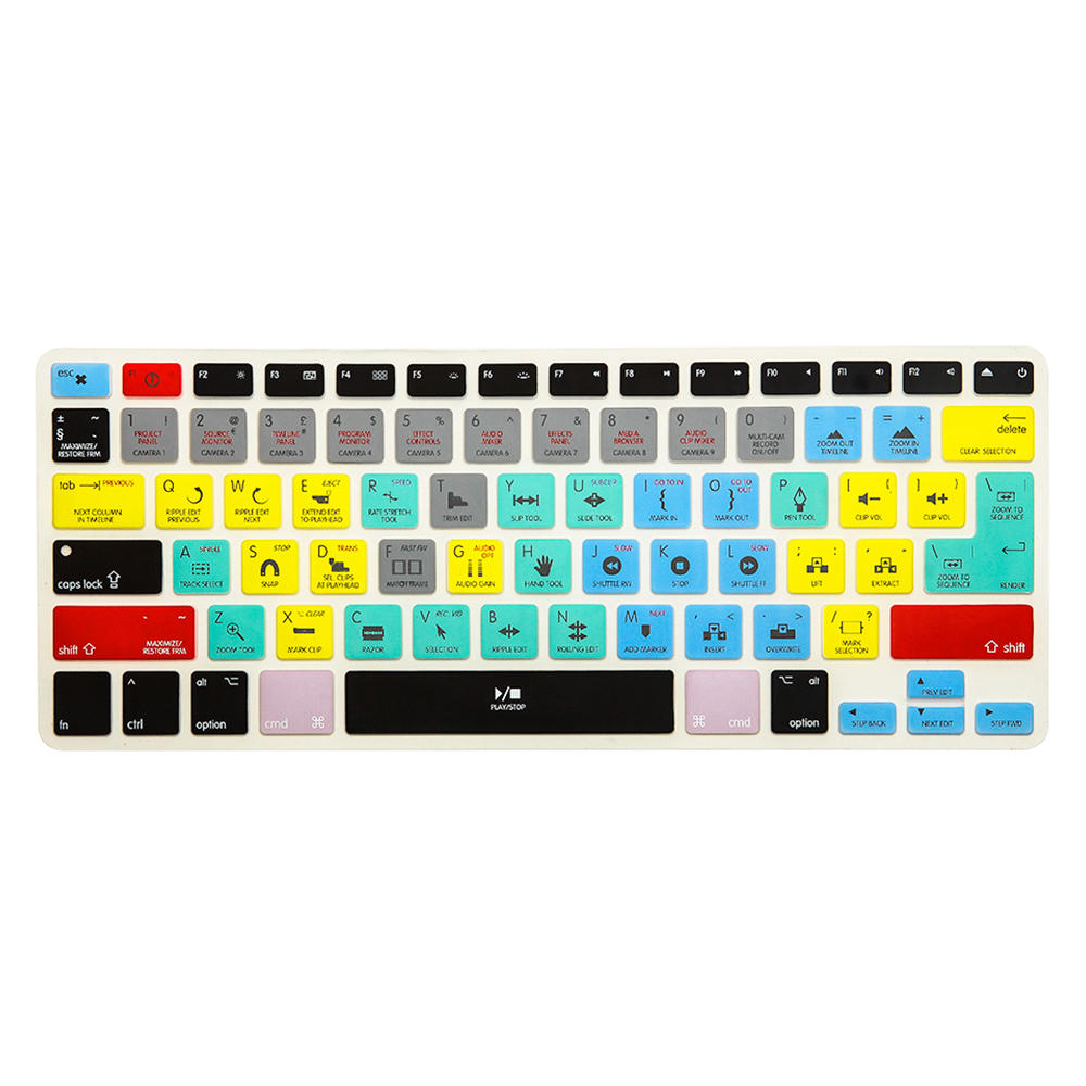 HRH Serato DJ Functional Shortcuts Hotkey Silicone Keyboard Cover Skin for MacBook Air 13,MacBook Pro13//15//17 /&Older iMac,USA and European Layout with or w//Out Retina Display, 2015 or Older Version