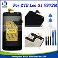1 pcs para zte leo s1 v972m v972 lcd com tela de toque digitador assembléia repair + ferramentas
