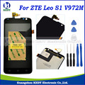 1PCS For ZTE Leo S1 V972M V972 LCD with Touch Screen Digitizer Assembly Repair+TOOLS