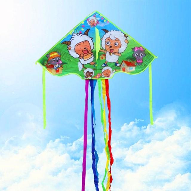 Envío de la alta calidad los niños cometas 20 unids/lote juguetes al aire libre del vuelo de la cometa línea de nylon ripstop cometa deporte belleza dragón niños
