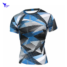 2018 3D Printed T-shirts Men Compression Shirt Men's MMA Tshirt Short Sleeve Quick dry Workout Bodybuilding Fitness Tops T shirt