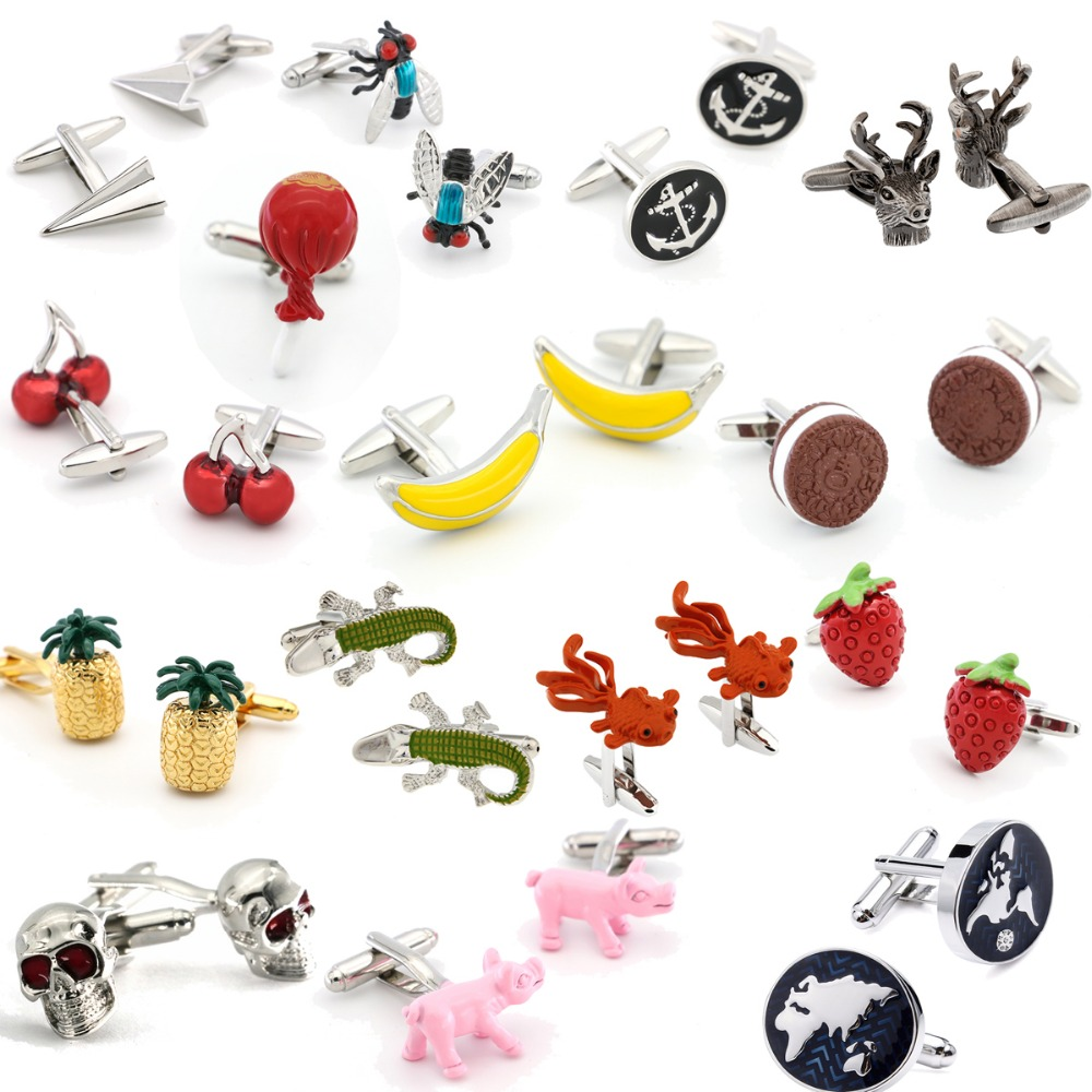 IGame New Arrival Novelty Cufflinks 18 Fancy Designs Brass Material Cuff Links For Men Free Shipping