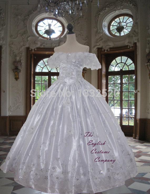 Victorian crinoline dress Civil war Sequin and Diamante Studded Ball ...